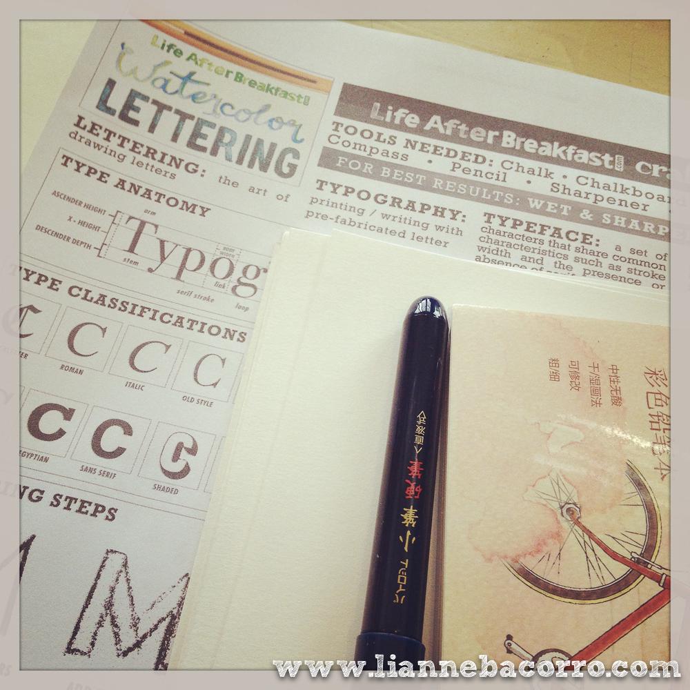 Watercolor Lettering - Lianne Bacorro - Alessa Lanot - Life After Breakfast-2