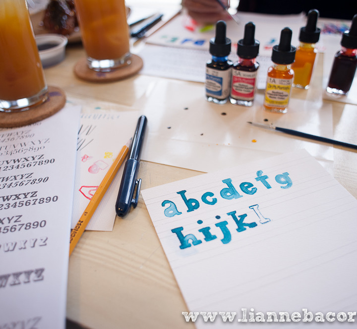 A Watercolor Lettering Crafternoon with Alessa Lanot